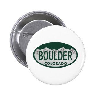 Óvalo de la licencia de Boulder Pins