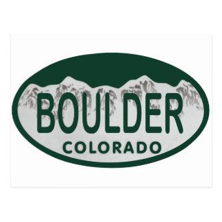 Óvalo de la licencia de Boulder Postal