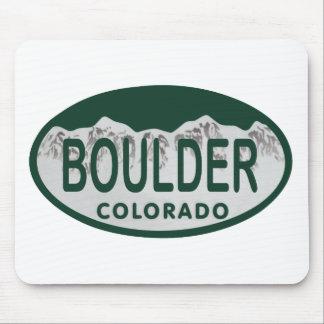 Óvalo de la licencia de Boulder Alfombrillas De Ratones