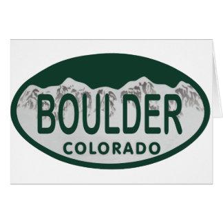 Óvalo de la licencia de Boulder Tarjeta