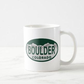 Óvalo de la licencia de Boulder Taza De Café