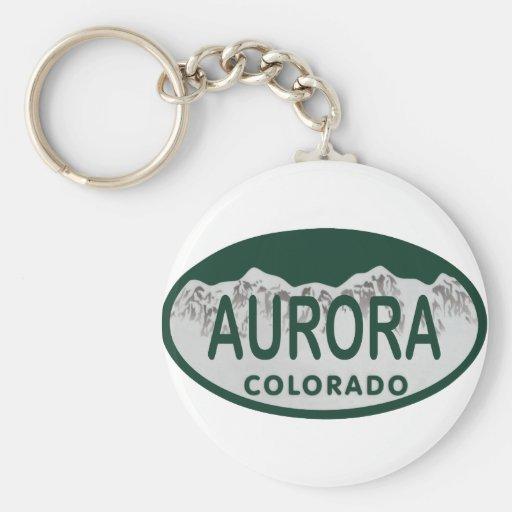 Óvalo de la licencia de Colorado de la aurora Llaveros