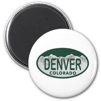 Óvalo de la licencia de Denver Imán Redondo 5 Cm