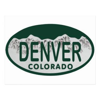 Óvalo de la licencia de Denver Tarjeta Postal