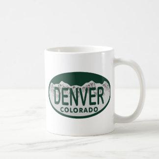 Óvalo de la licencia de Denver Taza
