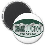 Óvalo de la licencia de Grand Junction Imán Redondo 5 Cm