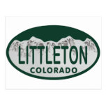 Óvalo de la licencia de Littleton Tarjeta Postal