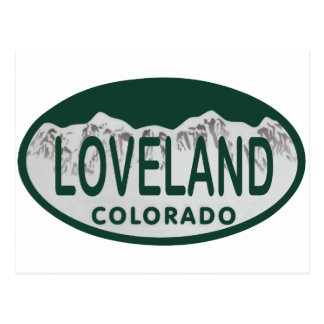Óvalo de la licencia de Loveland Postal