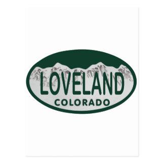 Óvalo de la licencia de Loveland Postales