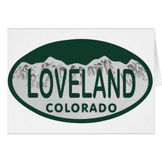 Óvalo de la licencia de Loveland Tarjetón