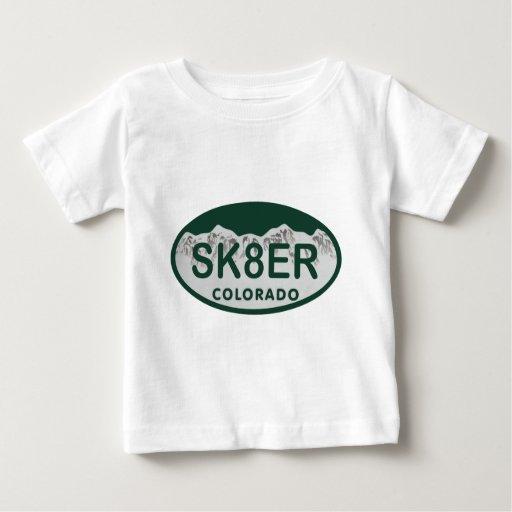 óvalo de la licencia de sk8er playeras