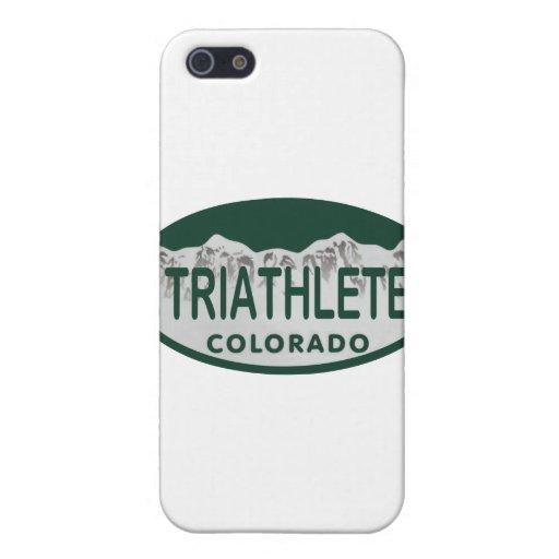 Óvalo de la licencia de Triathlete iPhone 5 Carcasa