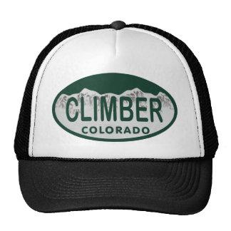 óvalo de la licencia del escalador gorra