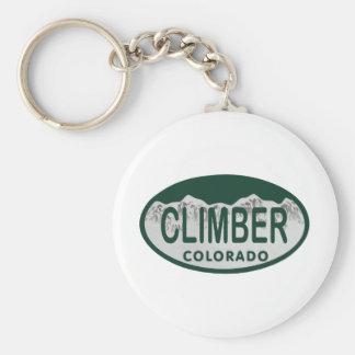 óvalo de la licencia del escalador llavero redondo tipo pin