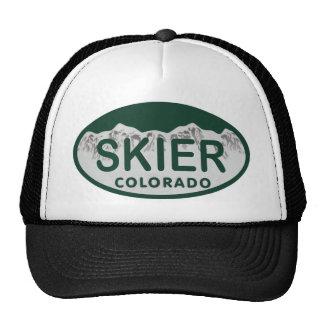 óvalo de la licencia del esquiador gorras