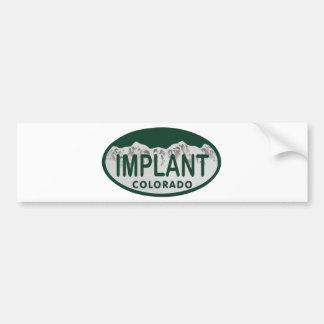 Óvalo de la licencia del implante pegatina para auto