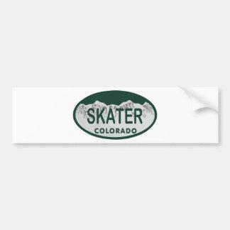 Óvalo de la licencia del patinador pegatina para auto