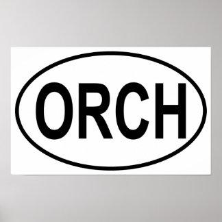 Óvalo de la orquesta póster