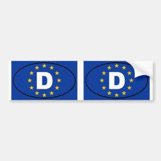 Óvalo de la unión europea de Alemania Deutschland Pegatina Para Auto