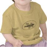 Óvalo de Papillon Camisetas