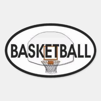 Óvalo del baloncesto colcomanias óval personalizadas