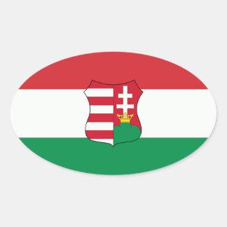 Óvalo del coche de Hungría Pegatina Ovalada