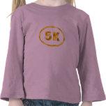 Óvalo del corredor del oro 5K Camiseta