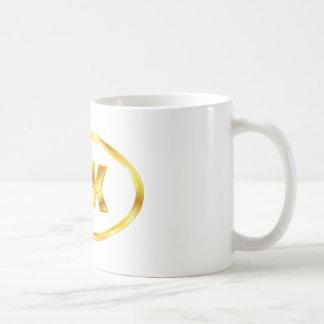 Óvalo del corredor del oro 5K Tazas De Café