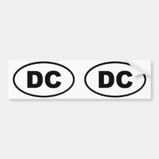 Óvalo del distrito de Columbia del Washington DC Pegatina Para Auto