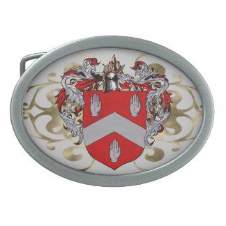 Óvalo del escudo de armas de Byrne Hebillas De Cinturon Ovales