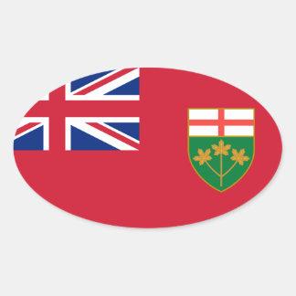 Óvalo del Euro-estilo de la bandera de Canadá Pegatina De Ovaladas