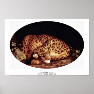 Óvalo del leopardo de Stubbs George Impresiones