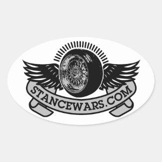 Óvalo del logotipo de Stancewars Pegatina Ovalada