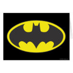 Óvalo del logotipo del palo de Batman Felicitacion