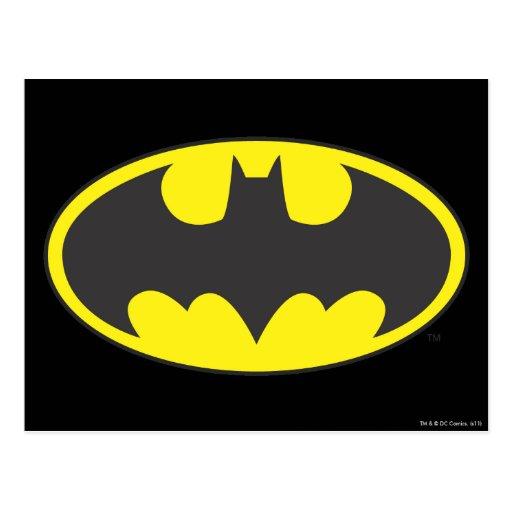 Óvalo del logotipo del palo de Batman Postales