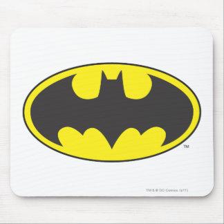 Óvalo del logotipo del palo de Batman Tapete De Ratón
