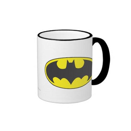 Óvalo del logotipo del palo de Batman Taza