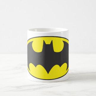 Óvalo del logotipo del palo de Batman Taza Básica Blanca