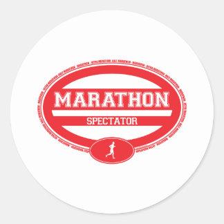 Óvalo del maratón para los atletas y los espectado pegatinas