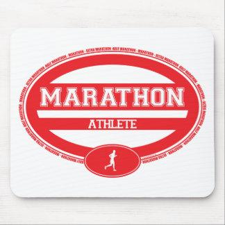 Óvalo del maratón para los atletas y los espectado tapetes de raton