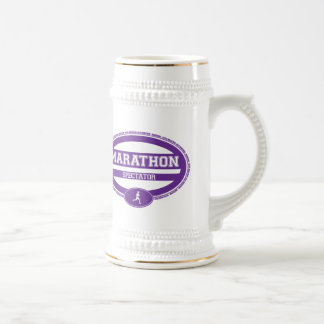 Óvalo del maratón para los atletas y los jarra de cerveza