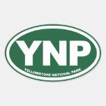 Óvalo del parque nacional de Yellowstone Calcomanía Óval
