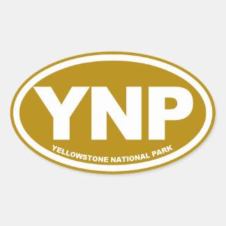 Óvalo del parque nacional de Yellowstone Pegatina Ovalada