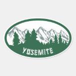 Óvalo del parque nacional de Yosemite Pegatina Ovalada