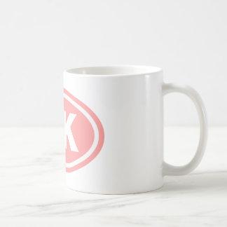 Óvalo del rosa del corredor de 5 K Taza De Café