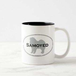 Óvalo del samoyedo tazas de café
