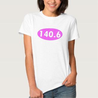 Óvalo del Triathlon del rosa 140,6 Playera