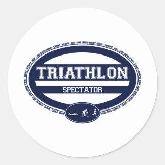 Óvalo del Triathlon Etiquetas Redondas
