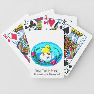 óvalo del trullo de los tulipanes del huevo del po baraja cartas de poker