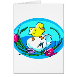 óvalo del trullo de los tulipanes del huevo del tarjeta pequeña